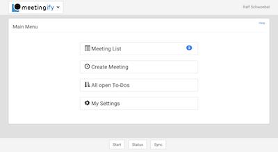 Meetingify Agenda Organizer screenshot