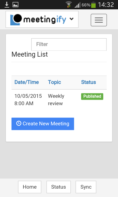 edit the meeting list